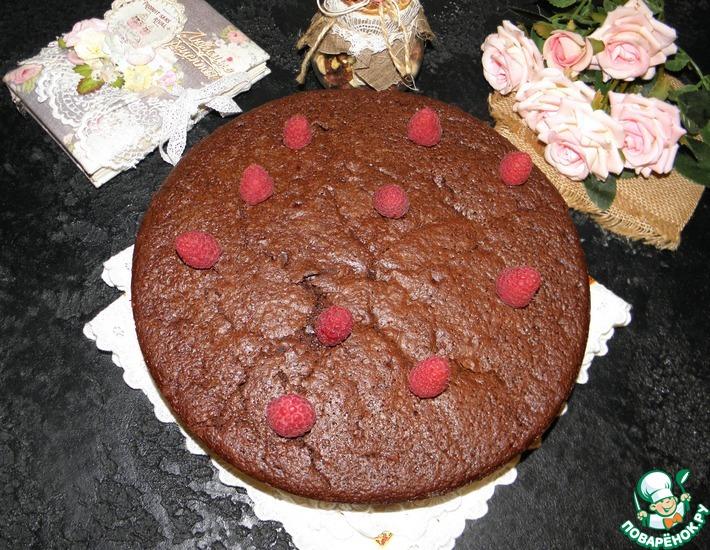 Рецепт: Пирог для взрослых Пьяный шоколад
