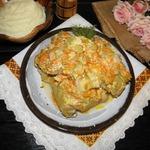 Курица с овощами в сливочном соусе
