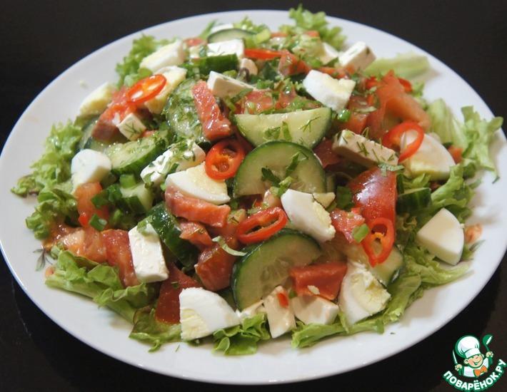 Рецепт: Салат с семгой
