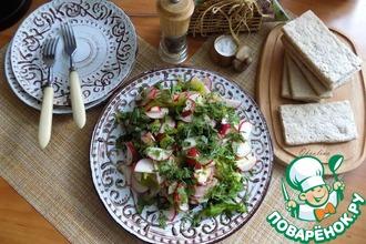 Рецепт: Салат с маринованной сельдью и редисом