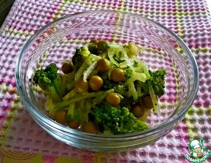 Салат из зелёных овощей