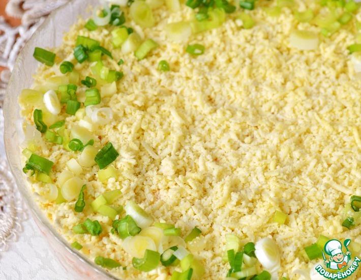 Рецепт: Салат Мимоза с крабовыми палочками