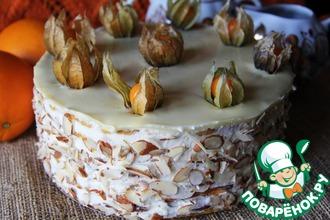 Рецепт: Тыквенный торт с апельсином и орехами
