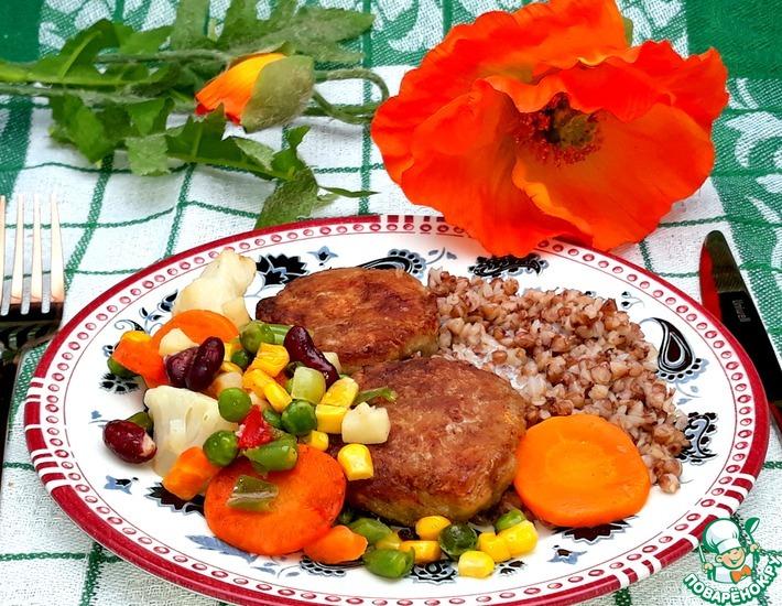 Рецепт: Котлеты куриные с картофелем и сыром