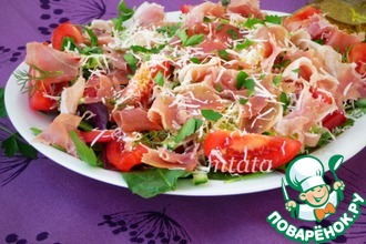 Рецепт: Салат из рукколы с хамоном