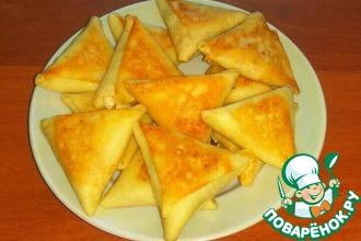 Рецепт: Треугольные блинчики с начинкой Бендерики