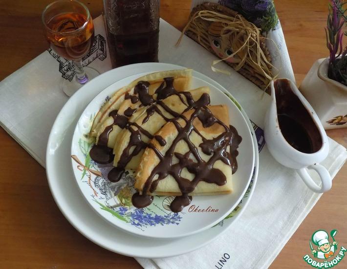 Рецепт: Десертные блины с амаретто