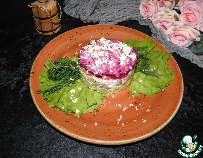 Рецепт: Салат с печенью трески Праздничный