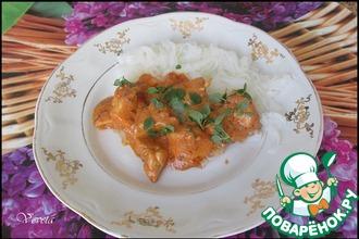 Рецепт: Куриная грудка в пряном соусе