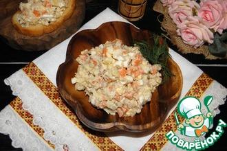 Рецепт: Салат с печенью трески Универсальный