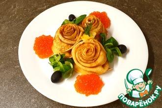 Рецепт: Розы из блинов
