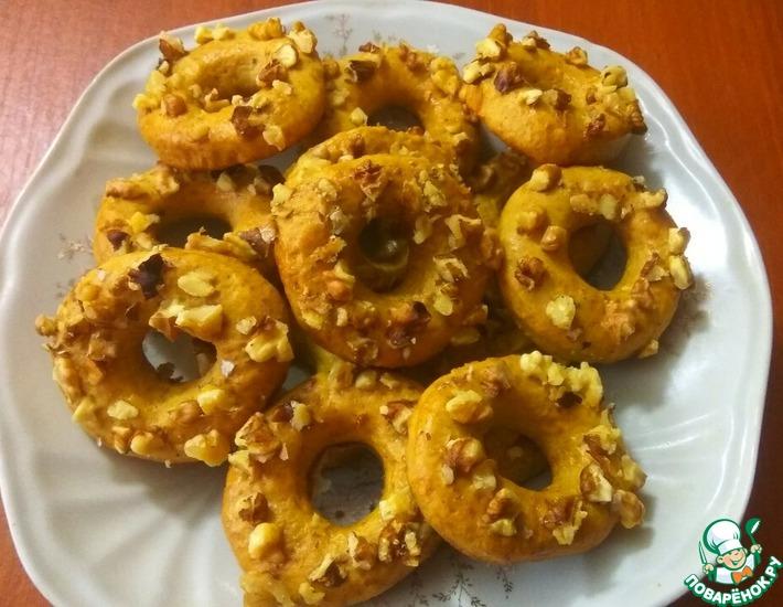 Рецепт: Бананово-медовые колечки с орехами
