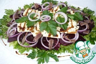 Рецепт: Салат из свеклы с анчоусами