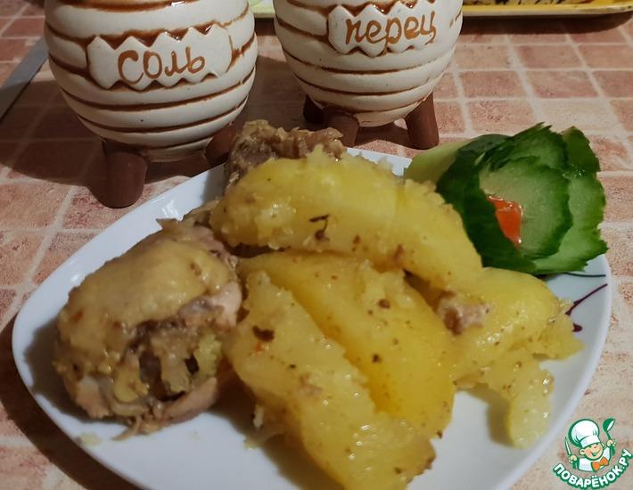 Рецепт: Курица с картофелем Без особого труда