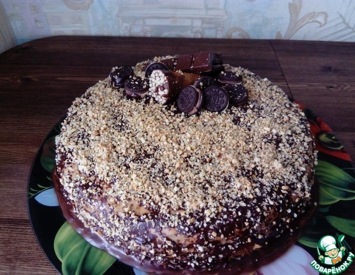 Рецепт: Торт а-ля Сникерс