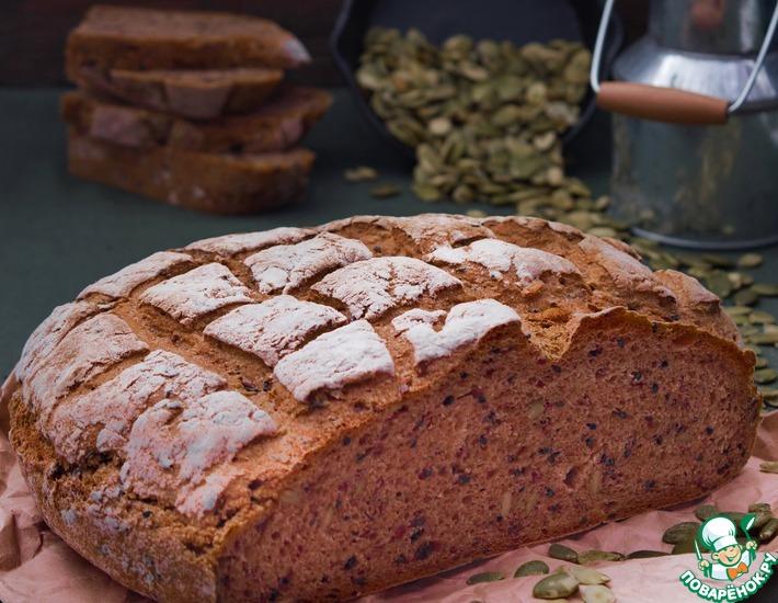 Хлеб домашний с разными семенами