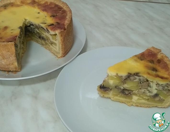 Рецепт: Пирог с грибами и картофелем
