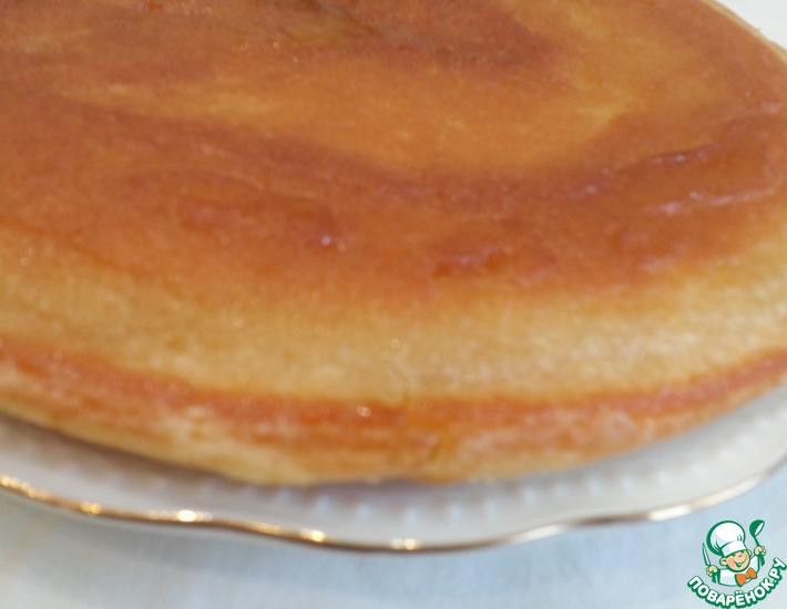 Рецепт: Пирог без сахара на сковороде