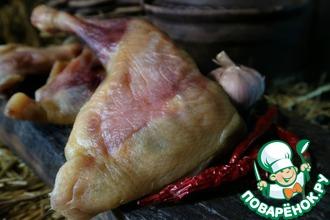 Рецепт: Балык из куриных окорочков