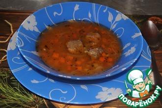 Рецепт: Гречневый суп с говядиной