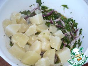 Картофельный салат Масло оливковое