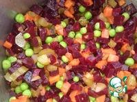 Свекольный салат с гороховой пастой ингредиенты