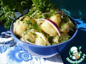 Картофельный салат Чеснок