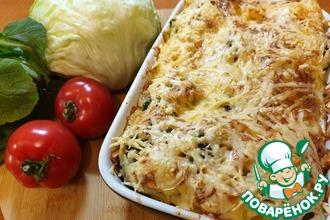 Рецепт: Запеканка из брокколи и цветной капусты