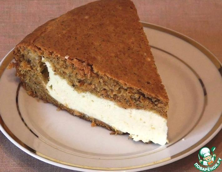 Рецепт: Морковный пирог с творожным суфле