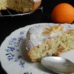 Постный апельсиновый пирог с изюмом