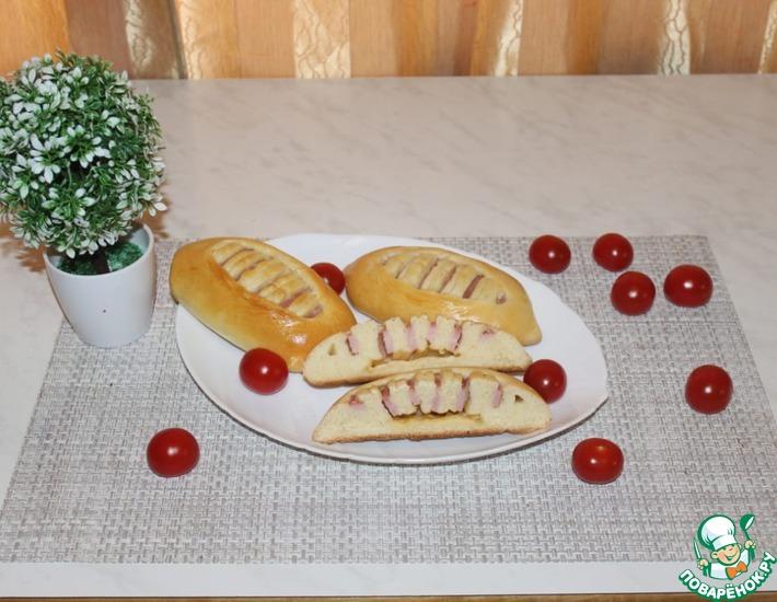 Рецепт: Пирожки с ветчиной и сыром