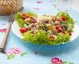 Салат фасолевый с помидорами