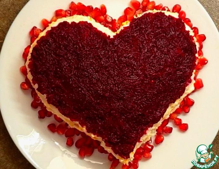 Рецепт: Салат Красный бархат