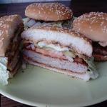 Гамбургер с халуми
