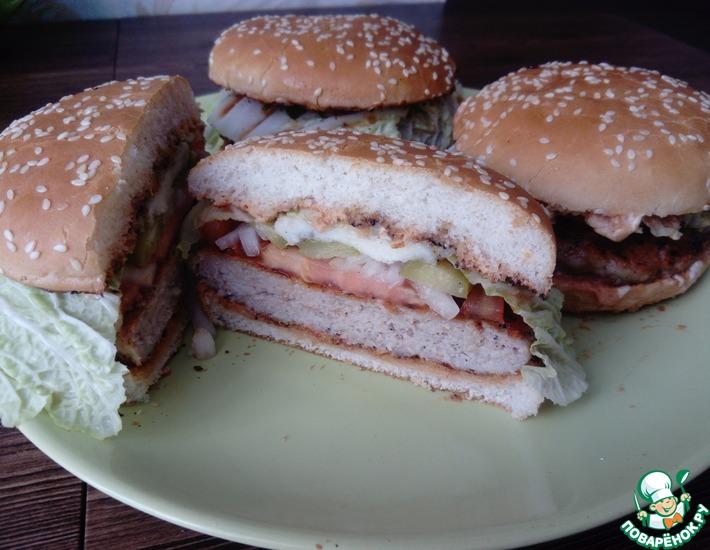 Рецепт: Гамбургер с халуми