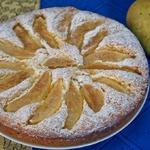 Пирог с грушами на дрожжевом тесте