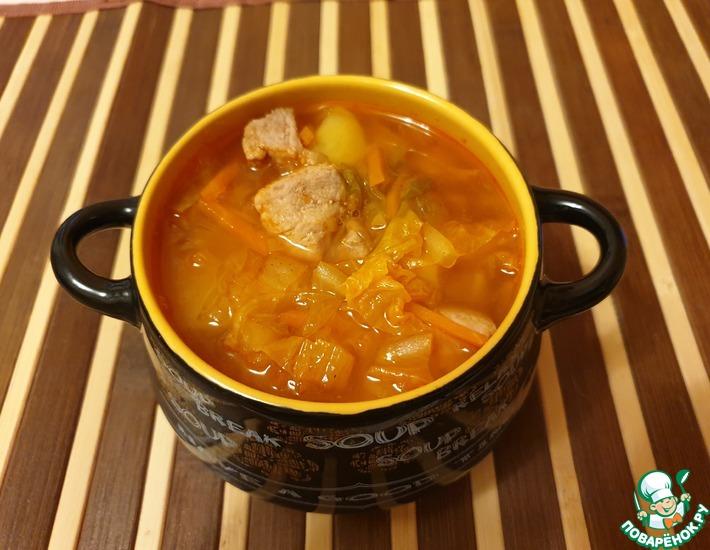 Рецепт: Суп картофельный с кимчи