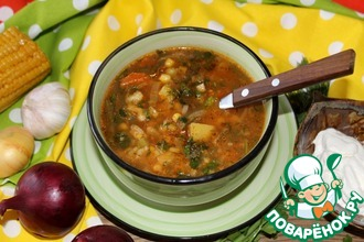Рецепт: Вегетарианский суп со стручковой фасолью