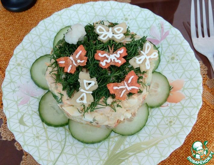 Рецепт: Салат с цветной капустой Солнечный