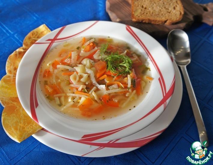 Рецепт: Суп с курицей, сельдереем и фенхелем