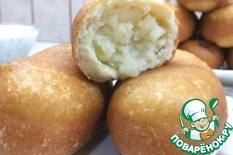 Рецепт: Воздушные жареные пирожки с картофелем