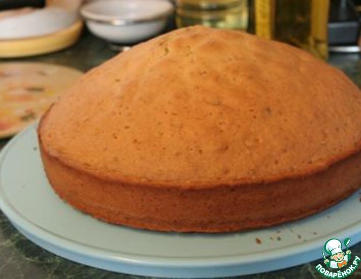 Как испечь ровный бисквит