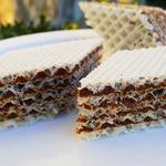 Вафельный торт с шоколадным кремом