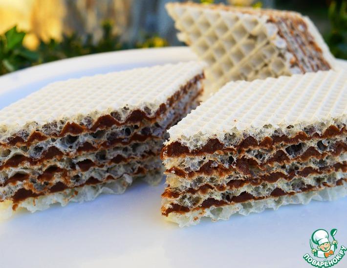 Рецепт: Вафельный торт с шоколадным кремом