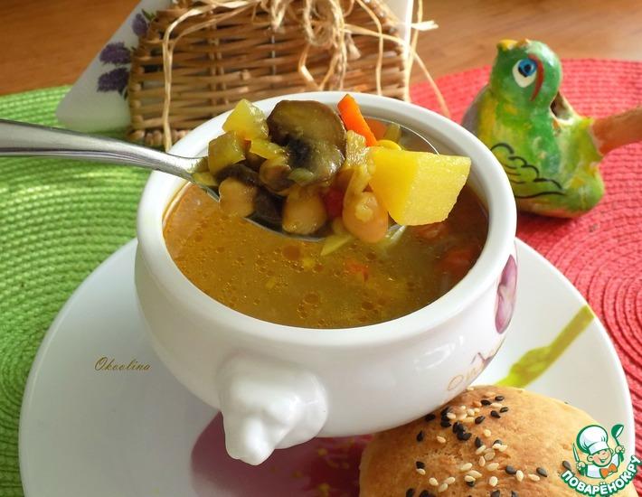Рецепт: Постный суп с нутом