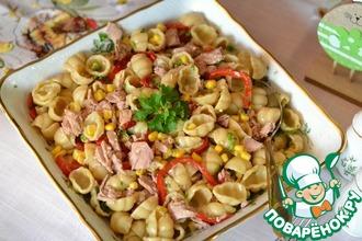 Рецепт: Салат с макаронами и тунцом