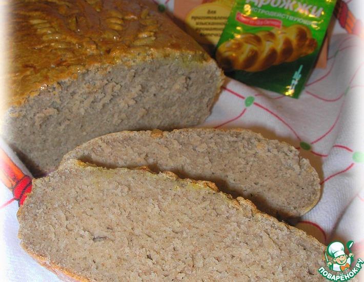 Рецепт: Рисово-льняной хлеб