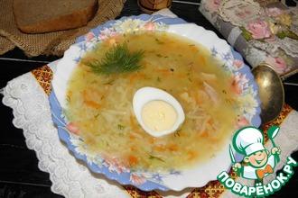 Рецепт: Куриный суп с пшеном и вермишелью