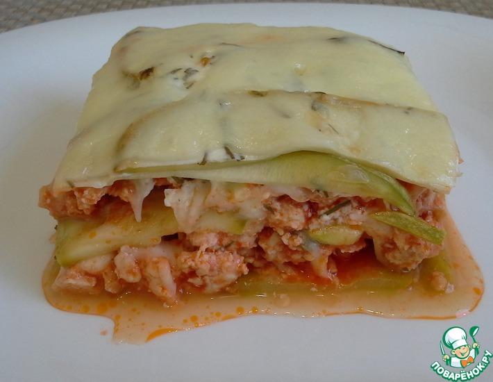 Рецепт: Запеканка из кабачков а-ля лазанья