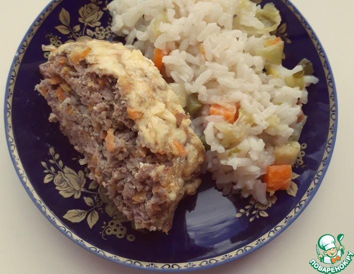 Рецепт: Мясной рулет с овощами и сыром